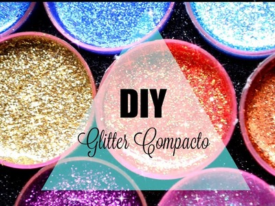 Haz sombras con Glitter.DIY Glitter Injections