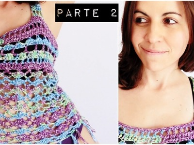 TOP PLAYERO a crochet | BLUSA TEJIDA paso a paso (ENGLISH SUB) - Parte 1.2 AHUYAMA CROCHET