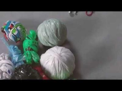 3R. Mirá como hacer un posavasos tejido a crochet con bolsas de residuos