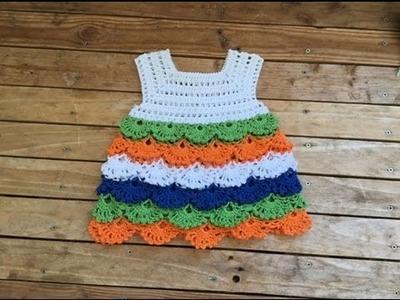 Bello vestido  tejido a crochet todas las tallas. Robe crochet toutes les tailles