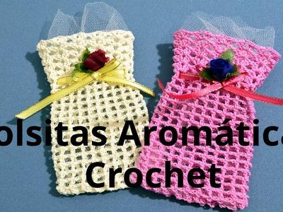 Bolsita Aromatica en tejido crochet tutorial paso a paso.