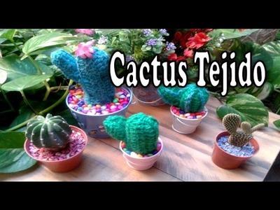 Cactus tejido a crochet-Facil -DelCarmenArtesanal