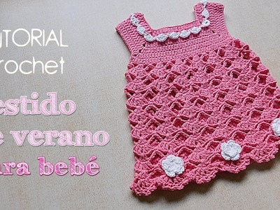 Como tejer vestido a crochet para bebe (1.2)
