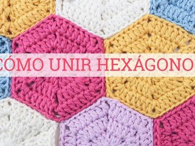 Cómo unir hexágonos de ganchillo | How to join crochet hexagons