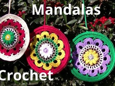 Mandala en tejido crochet tutorial paso a paso.
