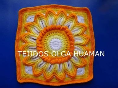 Muestras para tejer colchas y cojines a gancho o crochet - TEJIDOS OLGA HUAMAN