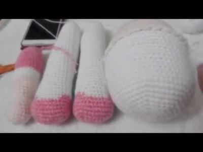 Muñeca Amigurumi cuerpo a crochet (ZURDO) Video 5
