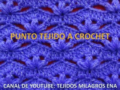 Punto # 10 tejido a crochet o ganchillo paso a paso