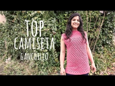Tutorial Top o Camiseta Punto Abanico Ganchillo | Crochet