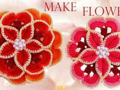 Como tejer las flores mas lindas fácil y rápido - How to make beautiful flowers easy knitting gift