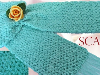 Como tejer una bufanda - How to Make a Scarf Knitting