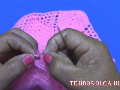 Como unir los cuadros tejidos a crochet para colchas y cojines