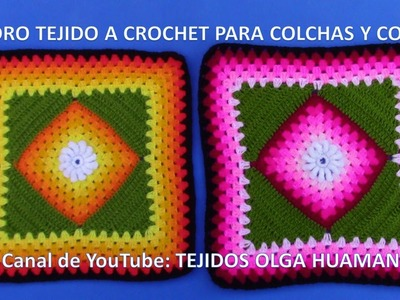 Cuadro Tejido a Crochet # 20 PARTE 1 para Colchas y Cojines