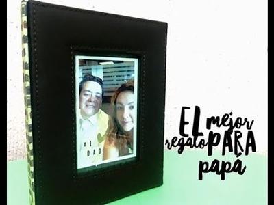 PORTARETRATO SCRAPBOOK PARA PAPÁ.DÍA DEL PADRE.FATHER'S DAY