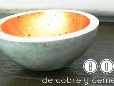 Cómo hacer un bol de cemento. How to make a concrete bowl