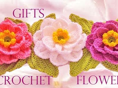 Como tejer flores fácil y rápido en una tira en pocos minutos - Make knitting in minutes
