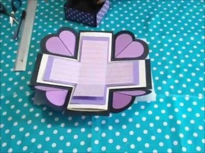 DIY: Caja explosiva. exploding box. molde. base. scrapbook