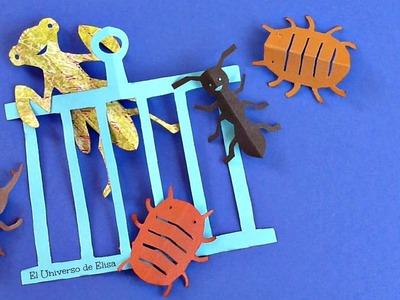 DIY, Decora tu Habitación Especial Chicos, Insectos de papel, Decoración Kirigami