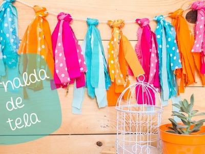 Guirnalda de TELA | DIY Roomdecor. BigCrafts