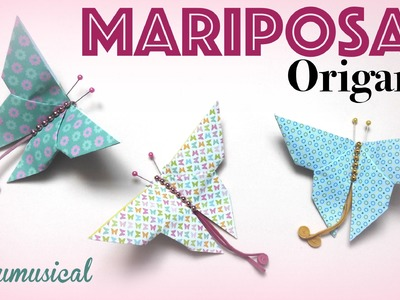 Mariposa Origami Papiroflexia. Paper butterfly