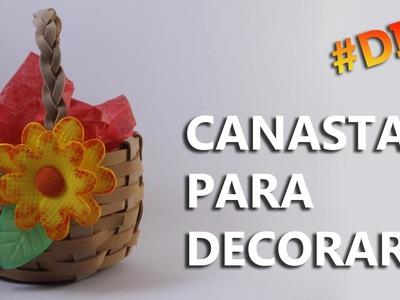 CÓMO HACER UNA CANASTA DE FOAMI CON BOTELLA DE PLÁSTICO | Manualidades con botellas de plástico