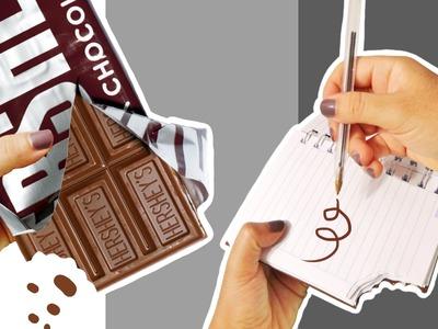 Haz Una Libreta de Chocolate! Manualidades Kawaii y Faciles