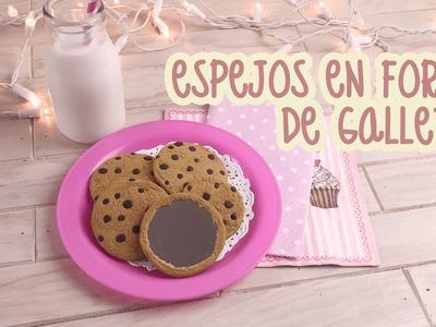 ¡DIY: ESPEJOS EN FORMA DE GALLETAS CON CHISPAS DE CHOCOLATE!