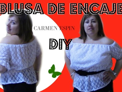 CAMISETA DE ENCAJE. diy