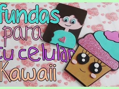 DIY fundas para celular cupcake y muñeca  kawaii - colab
