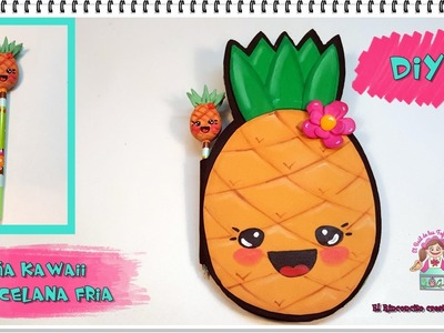 DIY - TUTORIAL PIÑA KAWAII MODELING CLAY O PORCELANA