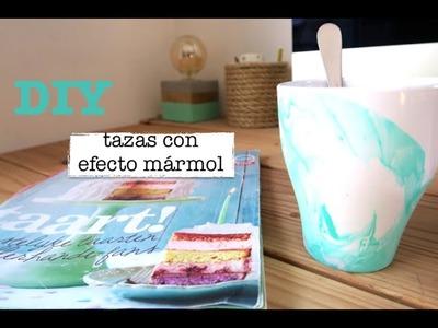 DIY | Water marble | Manualidades tazas efecto mármol