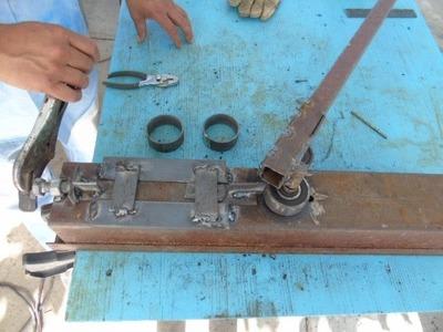 Aqui les muestro una maquina para hacer aros o circulo de solera