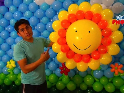 Como hacer un sol con globos  # 36