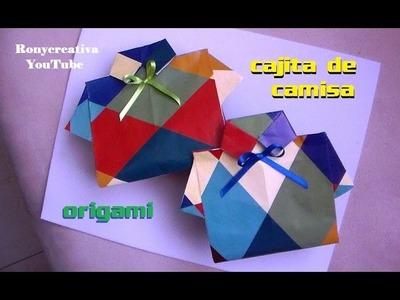 Cómo hacer una CAJITA o BOLSITA EN FORMA DE CAMISA. Father´s Day craft - Ronycreativa