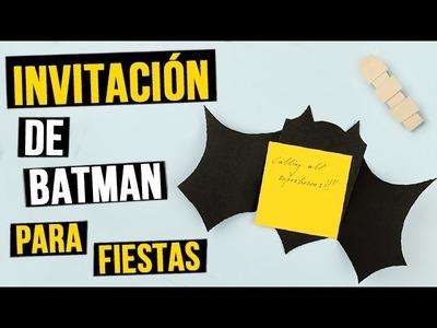 Invitación de Batman para fiestas