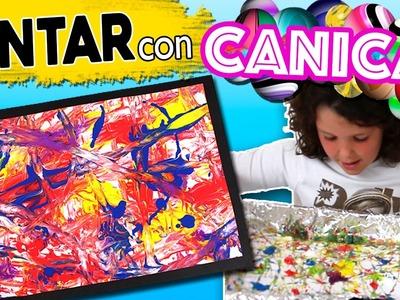 PINTAR con CANICAS al estilo JACKSON POLLOCK * ARTE para NIÑOS