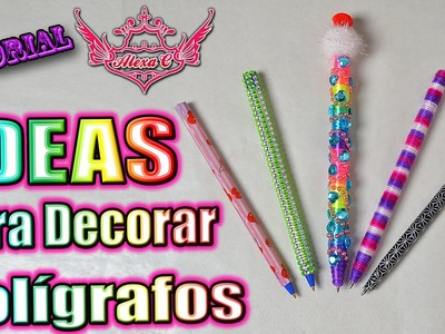 ♥ Tutorial: IDEAS Para Decorar Tus Bolígrafos ♥