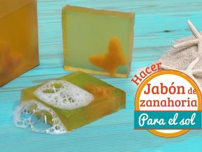 Cómo hacer jabón de zanahoria para el sol: Remedio casero para ayudar a curar las quemaduras solares
