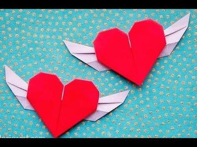 Corazon con alas Origami para Dia de San Valentin hermoso regalo