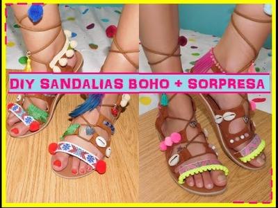 DIY SANDALIAS BOHO + SORPRESA