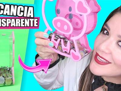 DIY★Te regalo una ALCANCÍA TRANSPARENTE ✔ ★Así o más fácil★ --- ♥Tutoriales Fáciles Paso a Paso♥