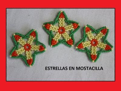 Estrellas en mostacilla para collar.como hacer empresa