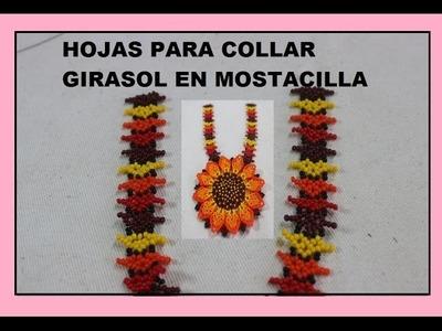 HOJAS PARA COLLAR GIRASOL EN MOSTACILLA