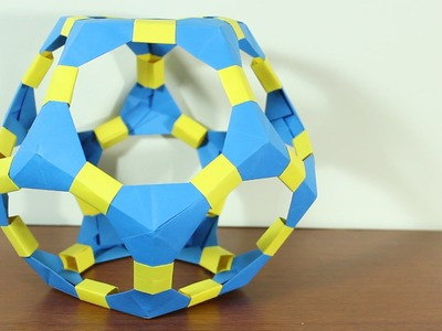 Origami Dodecahedron. Dodecaedro De Origami ¡TUTORIAL!