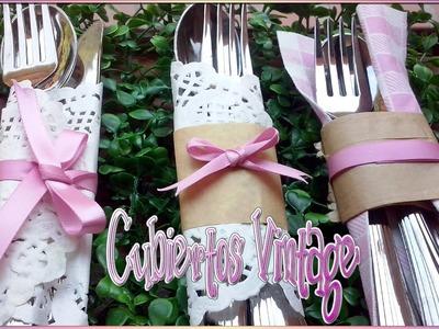 DIY decora tus cubiertos estilo vintage con estas ideas | Ideas para bodas