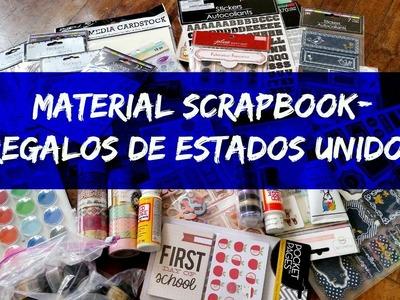 Material Scrapbook. Regalos de Estados Unidos. Cristina Su - Perú