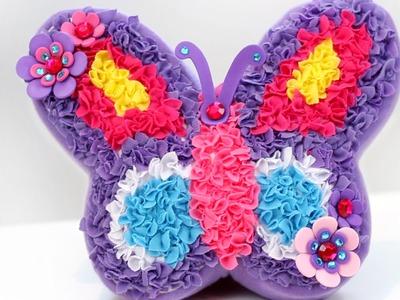 Cojín Mariposa Plush Craft Purr-fect pillow. Especial Saludos! Manualidades para niños.