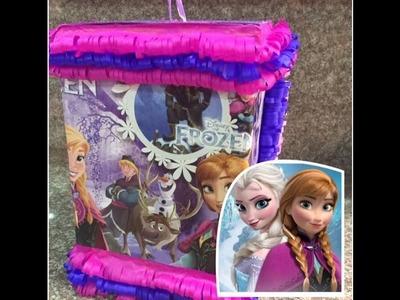 Como hacer una piñata fácil de frozen paso a paso