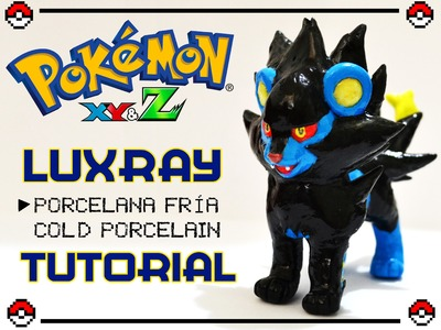 [Cristhian Crafts collab] DIY Pokémon Tutorial: Luxray polymer clay - porcelana fría - plastilina