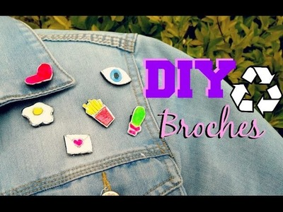DIY broches, parches o pines reciclados para tu ropa favorita! (super fácil)